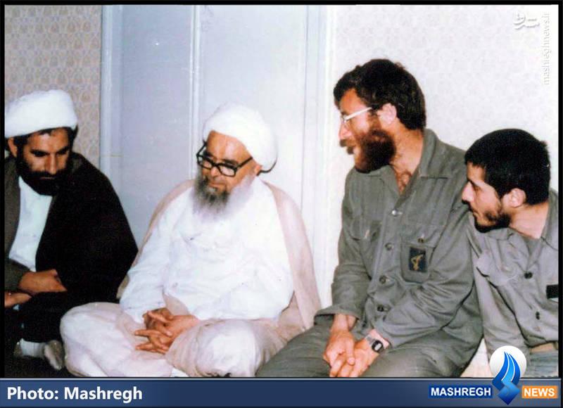 شهید محمد بروجردی در محضر شهید محراب، آیت الله صدوقی