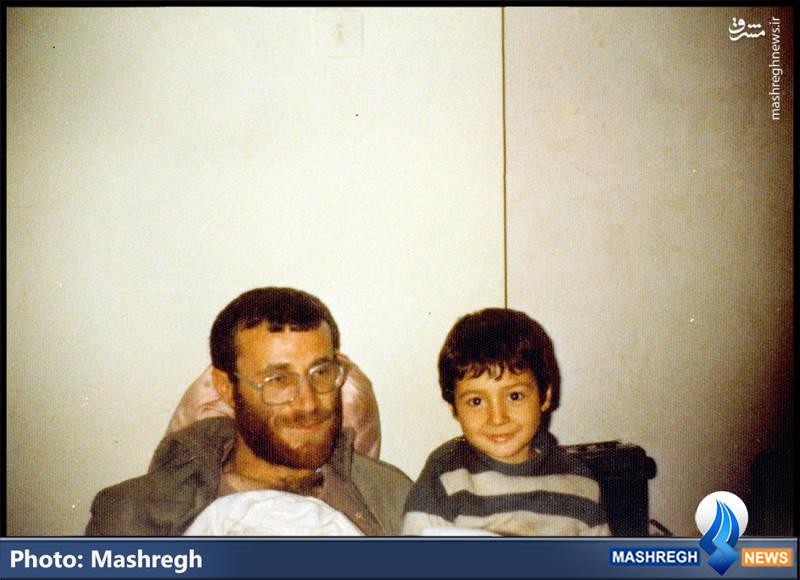 شهید محمد بروجردی و فرزندش