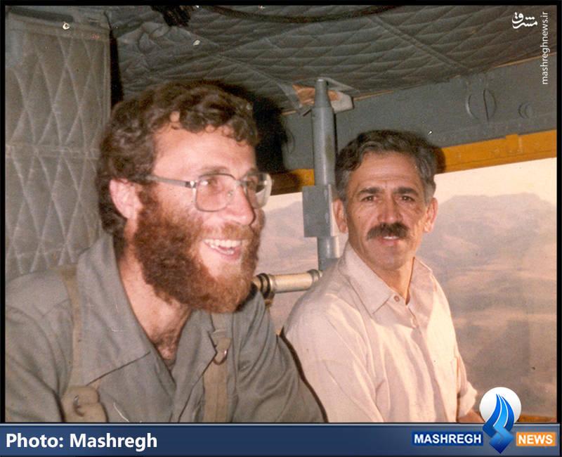 شهید محمد بروجردی(نفر سمت چپ) و شهید «حسن آبشناسان»