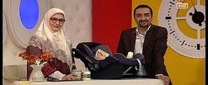 مجری معروف در کنار فرزند تازه متولد شدهاش +عکس