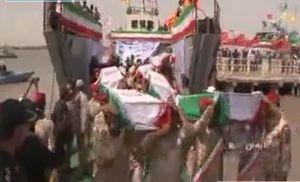 فیلم/ ورود پیکر 130 شهید دفاع مقدس به میهن اسلامی