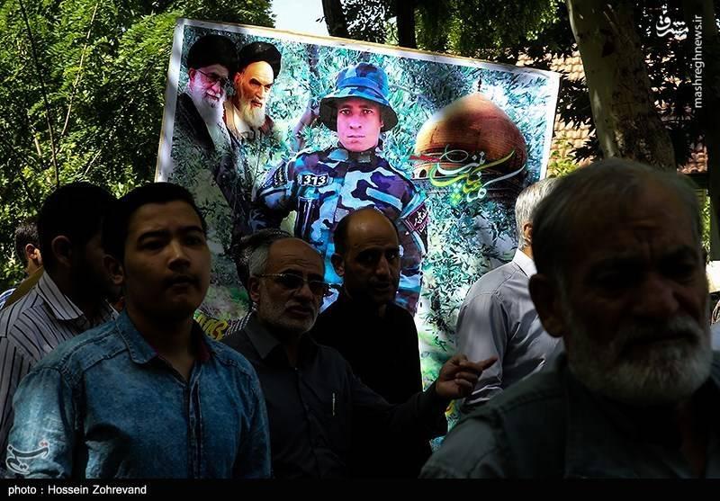 تشییع پیکر شهید مدافع حرم عبدالعظیم سخی داد