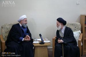 عکس/دیدار روحانی با مراجع تقلید