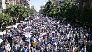 عکس/ راهپیمایی نمازگزاران مشهدی ضد جنایات آل خلیفه