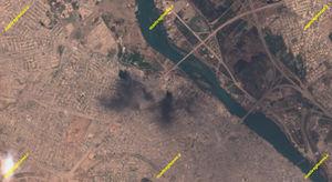 جدیدترین تصویر ماهوارهای از نبرد موصل