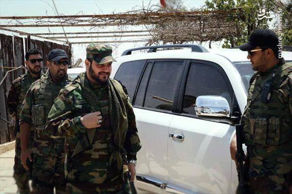 بازديد شيخ اكرم الكعبى از شهر تازه آزاد شده القيروان