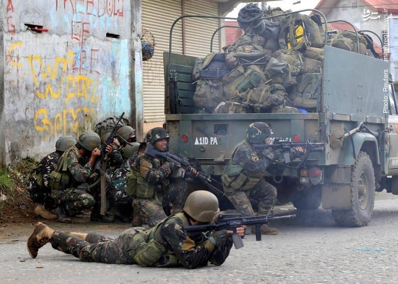 عقبنشینی نیروهای نظامی در برابر تروریستهای مسلح در جنوب فیلیپین