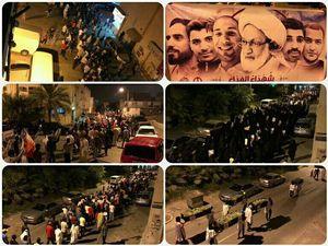 تظاهرات علیه آلخلیفه درنقاط مختلف بحرین