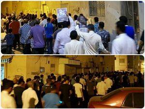 مردم بحرین شب گذشته دست به تظاهرات زدند