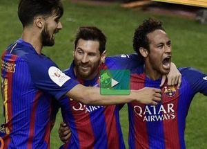 فیلم/ خلاصه بازی بارسلونا ۳-۱ آلاوز (قهرمانی بارسلونا)