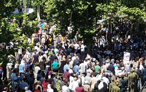 فیلم/ تجمع سپرده گذاران کاسپین مقابل بانک مرکزی