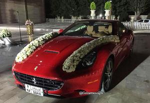 عکس/ ماشین عروس میلیاردی در رفسنجان
