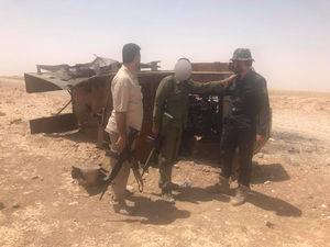 نیروهای بسیج مردمی عراقی پس از ۵ سال به مرزهای مشترک با سوریه رسیدند + تصاویر