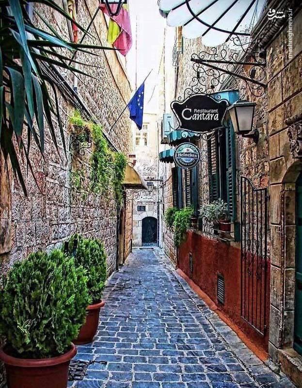 یکی از محلات قدیمی شهر حلب پس از بازسازی