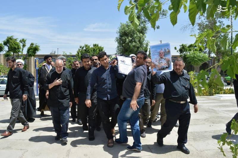 مراسم تشییع و تدفین پدر شهید محمدعلی جوزانی کهن