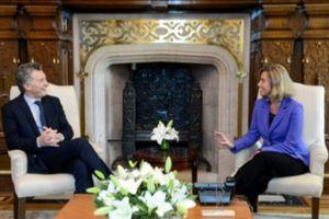 موگرینی با رئیس جمهور آرژانتین دیدار کرد