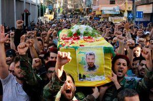 عکس/ تشییع شهید عباس سهیل علامة در لبنان