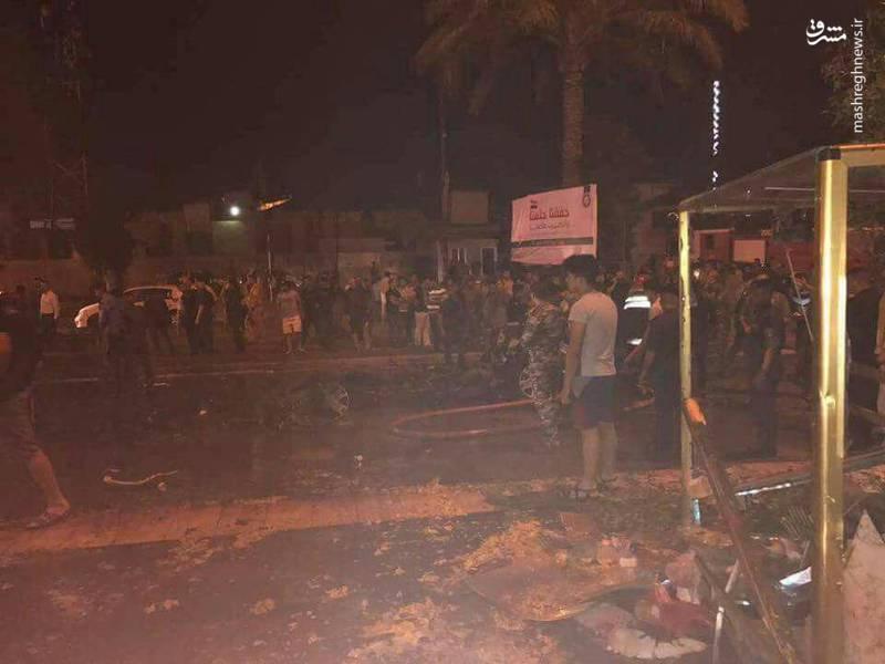 انفجار تروریستی در الکراده بغداد