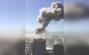 فیلم/ دود غلیظ پس از انفجار تروریستی در کابل