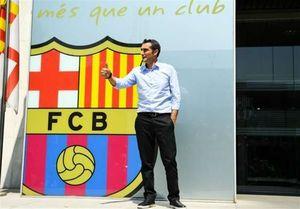 عکس/ سرمربی جدید بارسا در لباس تیم کاتالانها