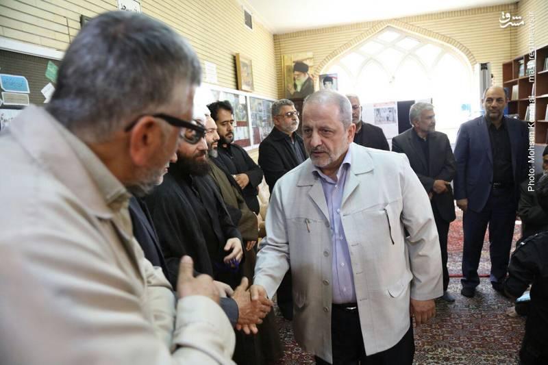 عکس/ حضور احمدی مقدم در مراسم یادبود شهید نصیری
