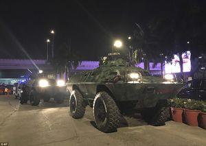 عکس/ تدابیر امنیتی اطراف هتل ریزورت ورد مانیل
