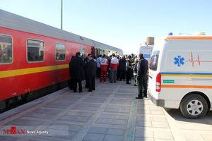 برخورد قطار با گله گوسفندان و چوپان در فارس