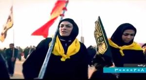 فیلم/ خواهران منصوریان در پیاده روی اربعین