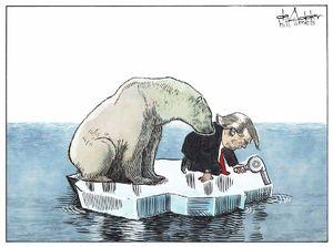 کارتون/توافق پاریس، ترامپ و خرس قطبی!