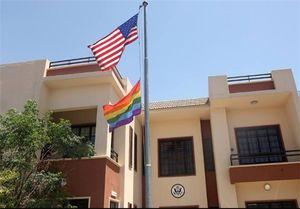 نصب پرچم همجنسبازان بر فراز کنسولگری آمریکا در اربیل +عکس