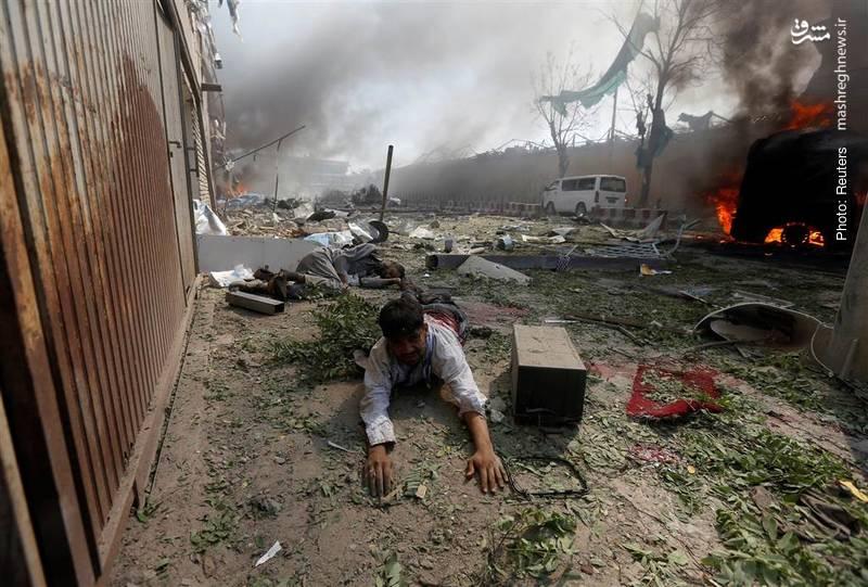 مرگ نزدیک به 90 نفر در کابل بر اثر انفجار تروریستی و تکرار جنایت در مراسم تشییع جانباختگان