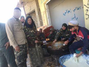 زنان عراقی هم به خطوط مقدم نبردها در شمال غرب استان نینوا پیوستند + عکس