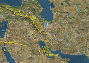 عکس/ آسمان ایران، قطر را نجات داد