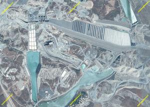 سد ایلیسو ترکیه تصاویر ماهوارهای