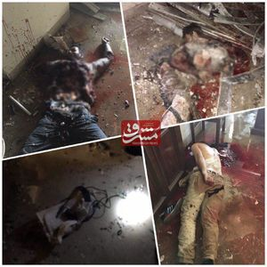 عکس/ اجساد تروریستها پس از پایان عملیات تروریستی در مجلس