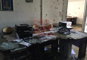عکس/ دفتر یکی از نمایندگان مجلس پس حمله تروریستها