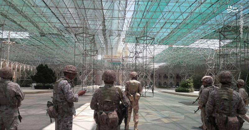 عکس/ حضور نیروهای ویژه صابرین سپاه در حرم امام(ره)