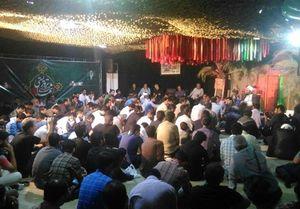 مراسم شب وداع با پیکر شهدای حادثه تروریستی تهران+عکس