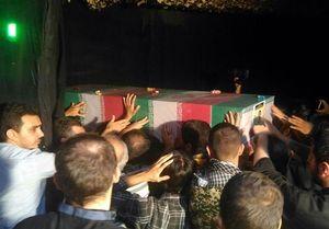 مراسم شب وداع با پیکر شهدای حادثه تروریستی تهران