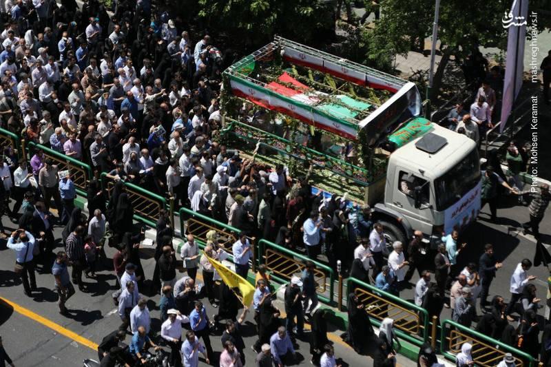 تشییع شهدای حادثه تروریستی تهران