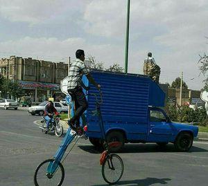 عکس/ دوچرخه شاسی بلند در ایران!
