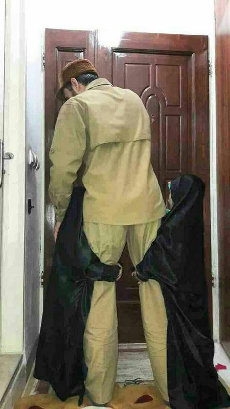 ماجرای عکس آخرین وداع شهید صادقی با دخترانش