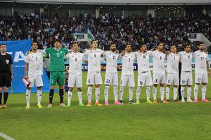 یک دقیقه سکوت پیش از شروع بازی تیم ملی فوتبال ایران