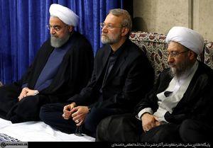 عکس/ سران سه قوه در دیدار مسئولان با رهبر انقلاب