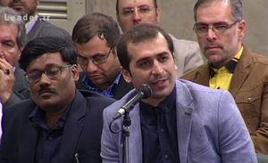 فیلم/ شعر زیبای برقعی برای ایران در حضور رهبرانقلاب