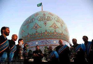 عکس/تعویض پرچم گنبد مسجدجمکران در نخستین شب قدر