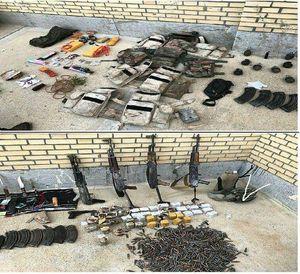 عکس/ کشف مواد منفجره از تیم تروریستی در چابهار
