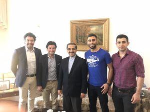 دیدار کاوه رضایی با سفیر ایران در بلژیک