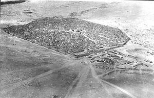 عکس هوایی از شهر نجف در یکصد سال قبل