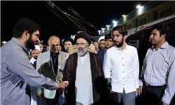 بازدید حجت الاسلام رئیسی از پشت صحنه برنامه «شهر عزیز»